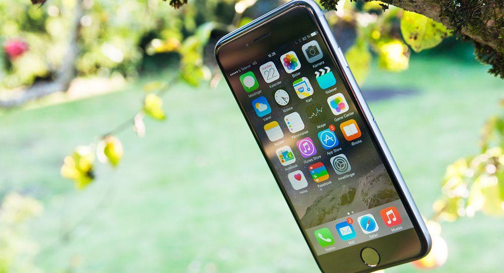 skjerm iphone 6 størrelse