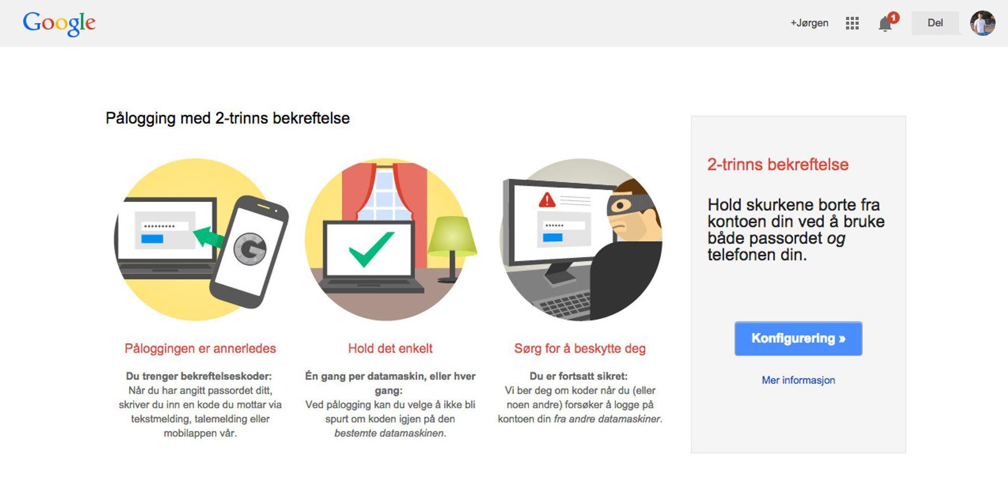 opprette google konto for bedrift