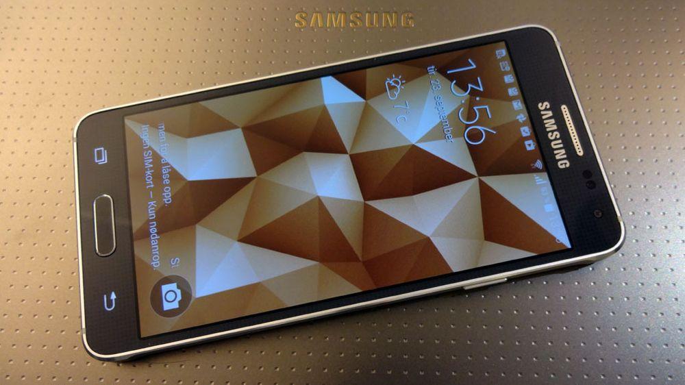 Låseskjermen på Samsung Galaxy Alpha.