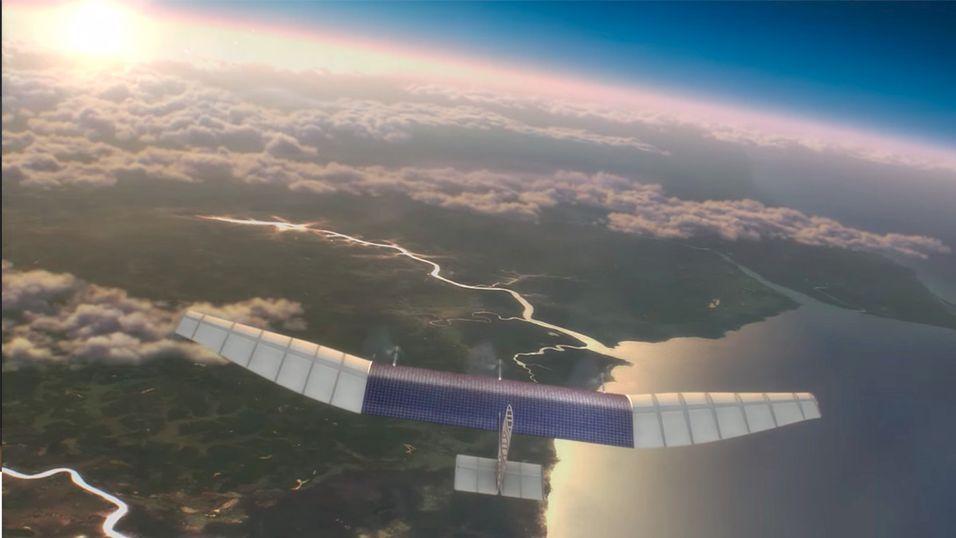 De ubemannede flyene vil være på størrelse med Boeing 747-fly, men holder seg i luften ved hjelp av strøm fra solcellepaneler.