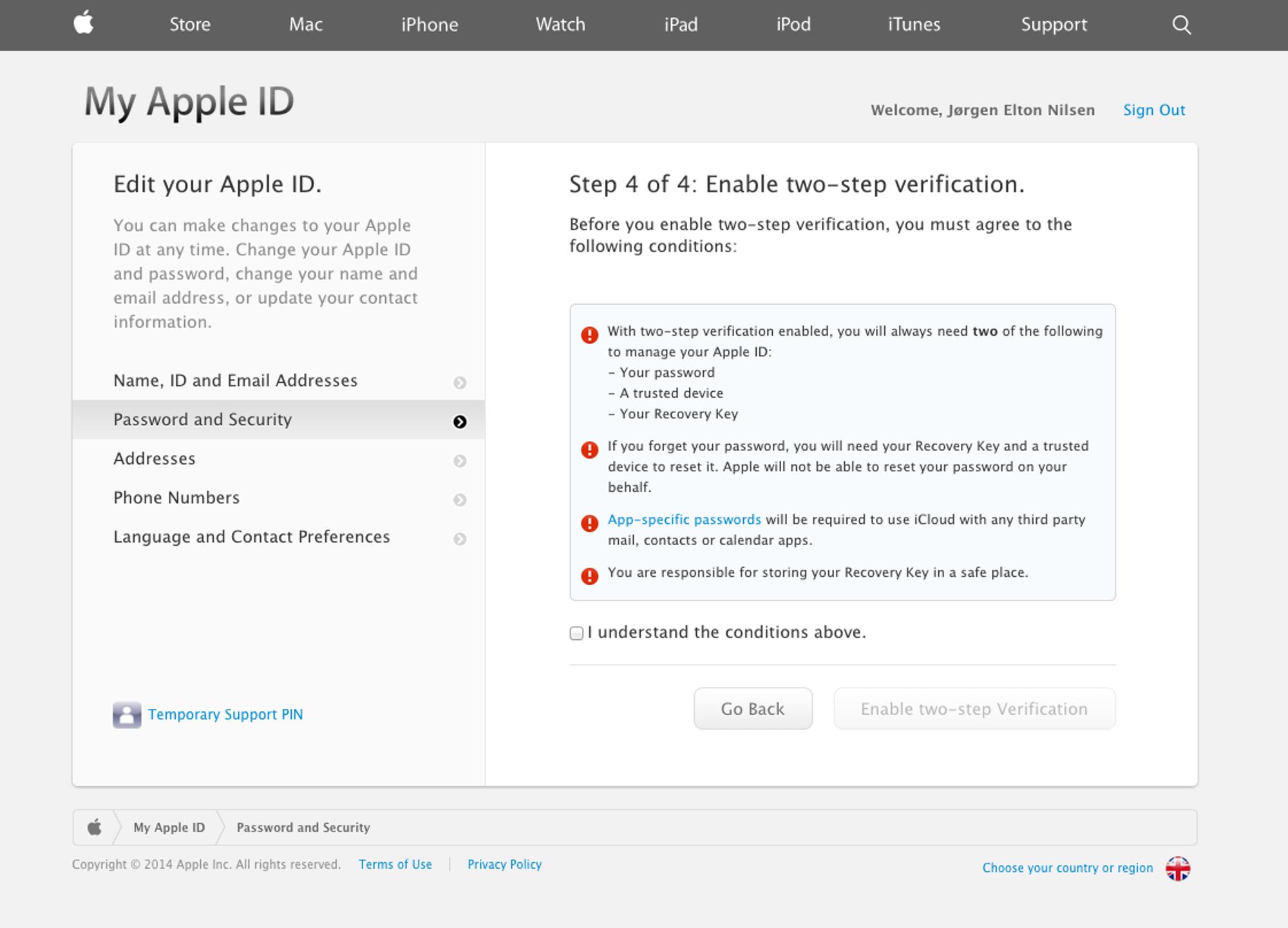 hvordan endre apple id