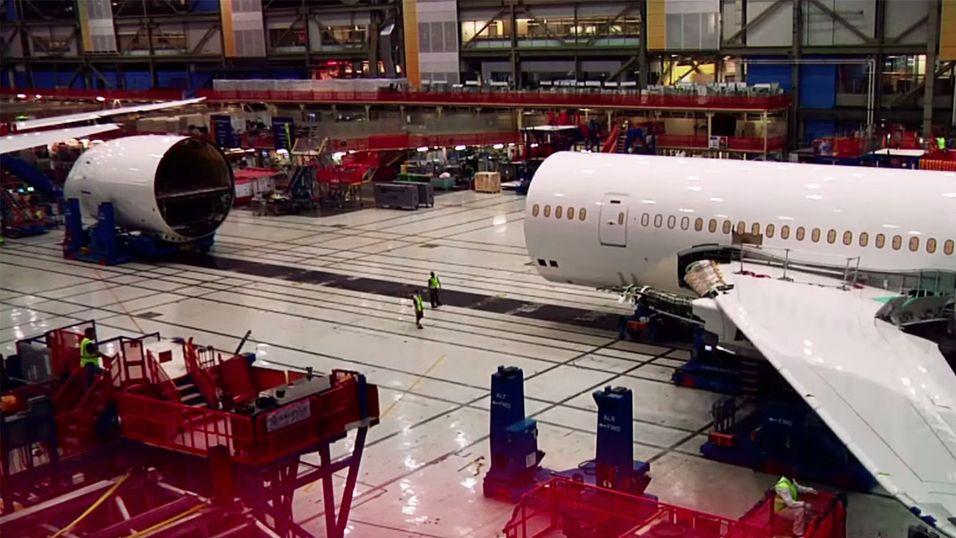 Slik bygges et Boeing 787-fly