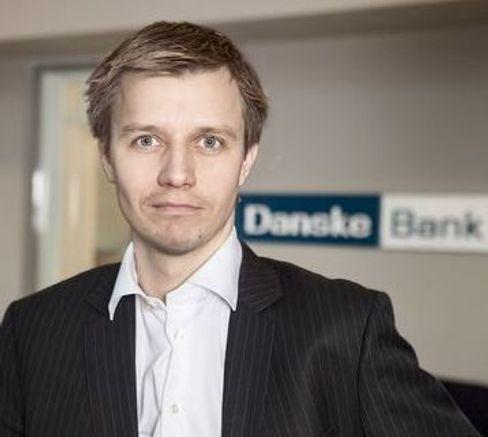 Kommunikasjonsdirektør Stian Arnesen i Danske Bank.