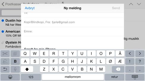 Et utvidet tastatur med klipp- og limfunksjoner har det også blitt plass til.