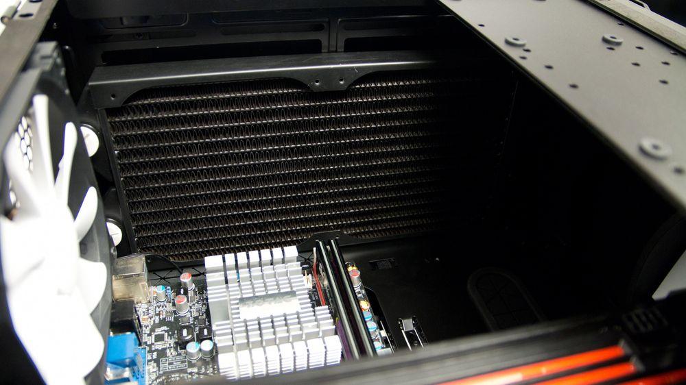 Selv store radiatorer sklir rett inn.