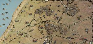 Kan du bryte gjennom tyskernes forsvar? (bilde: Slitherine / Matrix Games).