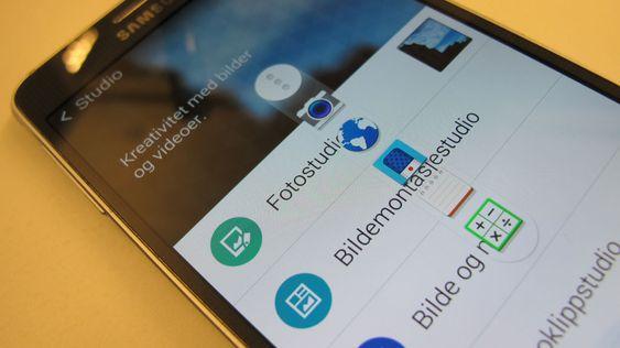 En egen verktøy-knapp gir tilgang til praktiske apper. Vi synes knappen er mest i veien.