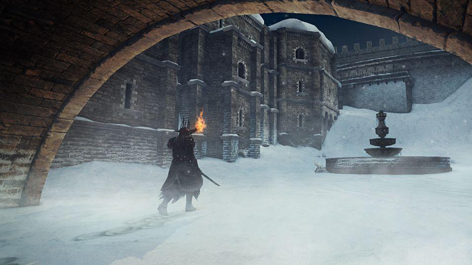 Utforsk en snødekt verden i Dark Souls 2