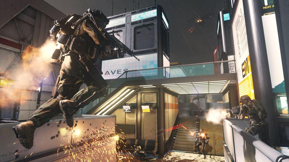 Jetpacken i eksoskjelettet tilfører Call of Duty en interessant dimensjon.