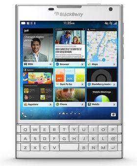 Slik ser Blackberry Passport ut.