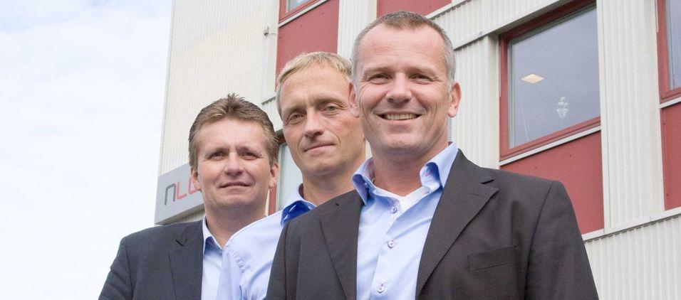Robert Olsen har nylig begynt i Nlogic. Her sammen med to av gründerne, Arne Giæver og Erlend Bonesvoll.