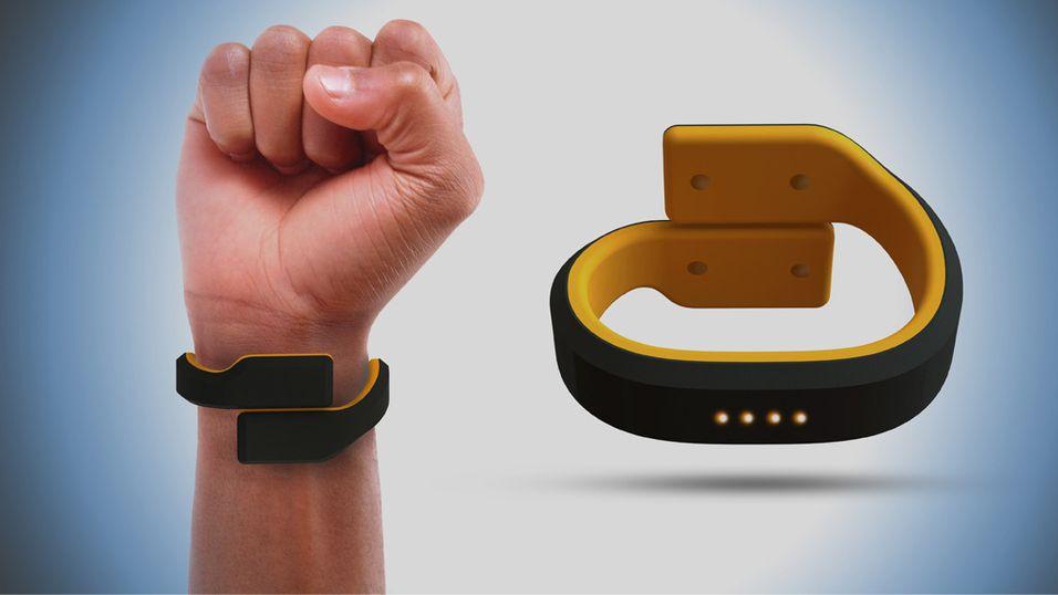 Dette armbåndet gir deg støt via en app på mobilen