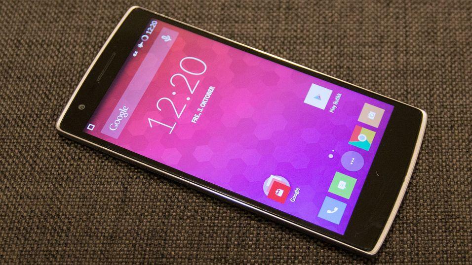 OnePlus One selger i bøtter og spann