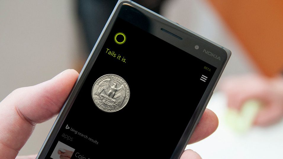 Slå kron og mynt med Cortana