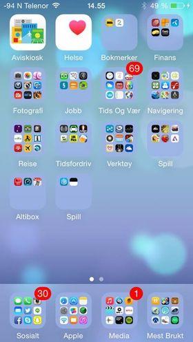 Hvem trenger flere skjermer når du kan ha alt på hjemskjermen? .
