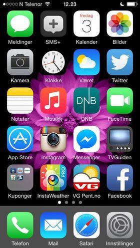 Robin Akselsen liker tilsynelatende også Apples nyeste bakgrunnsbilde. .
