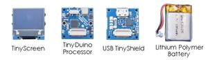 Dette er grunnpakken til TinyScreen-maskinen.