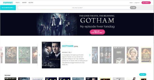 Filmnet, skjermdump 7.10.2014.