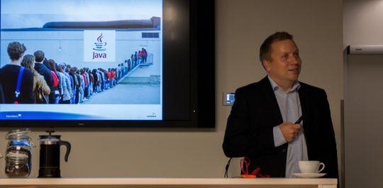 Øistein Sandlie, leder av Nordeas kundesenter.