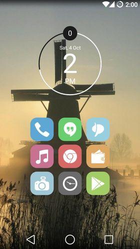 Forumbrukeren Bear96 har tatt det helt ut. Han har både Cyanogenmod 11, i tillegg til launcheren Apex Launcher. Kombinert med egne ikoner fra  Veronica Icon Pack er resultatet en kjempelekker hjemskjerm. .
