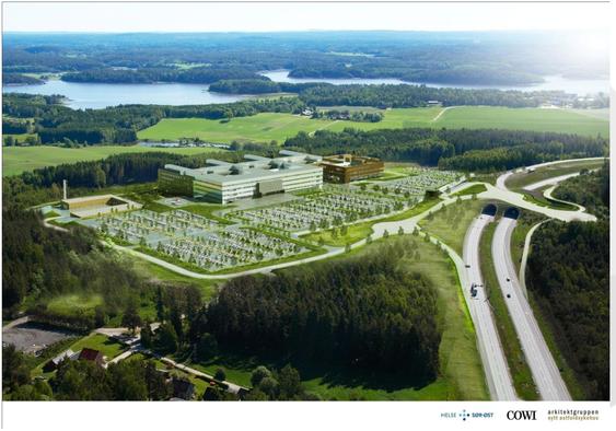Det nye sykehuset i Østfold blir massivt, og har 3200 rom.