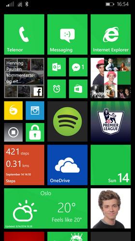 Awyeeeaah har holdt seg til den klassiske grønnfargen til Microsoft.