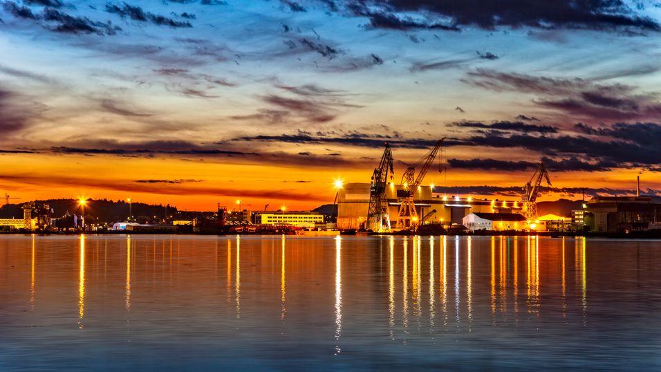 Stavanger kan bli blant de første «smart-byene». Her fra en havn i byen.