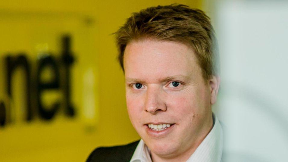 Ice-sjef Eivind Helgaker må bygge ut 4G-nettet til 40 prosents befolkningsdekning innen fire år etter tildeling hvis han ikke vil miste 4G-frekvensene sine.