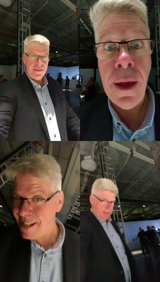 Kameraet kan sette sammen fire og fire bilder.