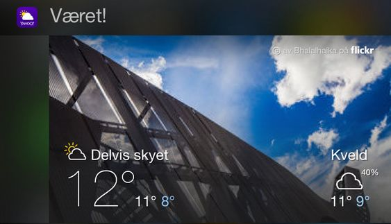 Yahoo! Weather.