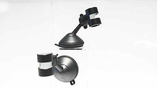 Denne holderen gjør at du kan filme mens du kjører. Det kan gi stilige timelaps-videoer.