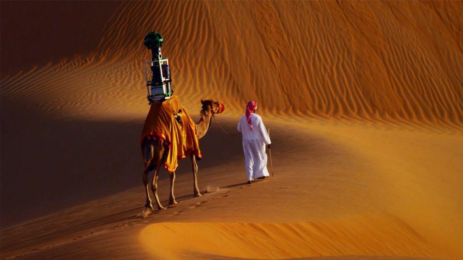 Dette er en Street View-kamel