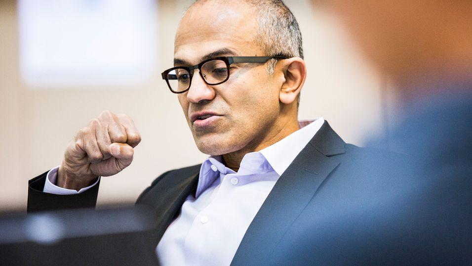 Microsoft-sjefen Satya Nadella.