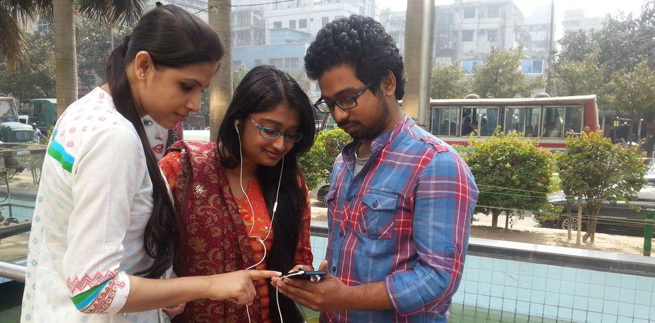 Telenor har passert 50 millioner kunder i Bangladesh. Her et bilde fra lanseringen av strømmetjenesten Beat i januar.