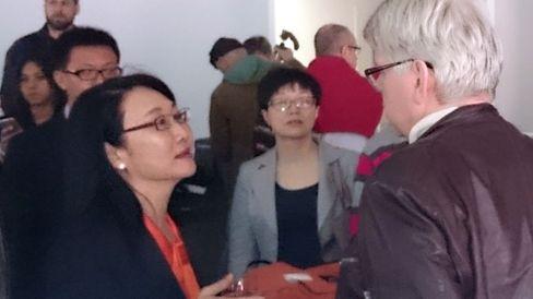 Styreleder i HTC, Cher Wang, vil gjerne vite hva vi mener om selskapets nye produkter.