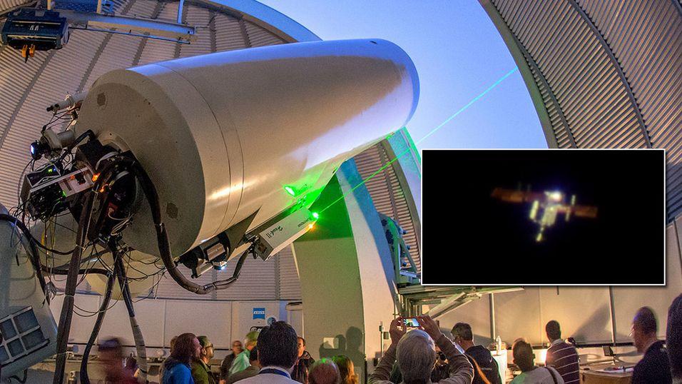 Lyste opp romstasjonen med laser