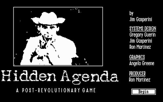 Hidden Agenda er i sort/hvitt. (bilde: Joachim Froholt/Gamer.no).
