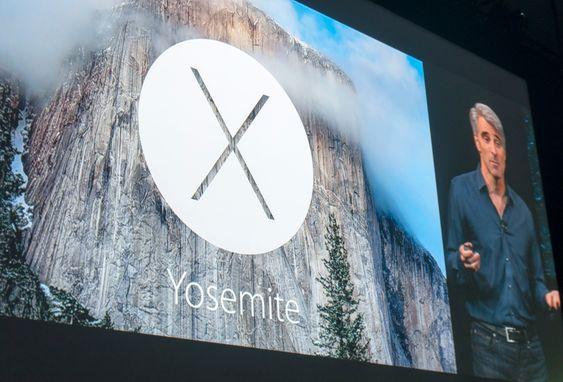 Yosemite-logoen på skjermen.