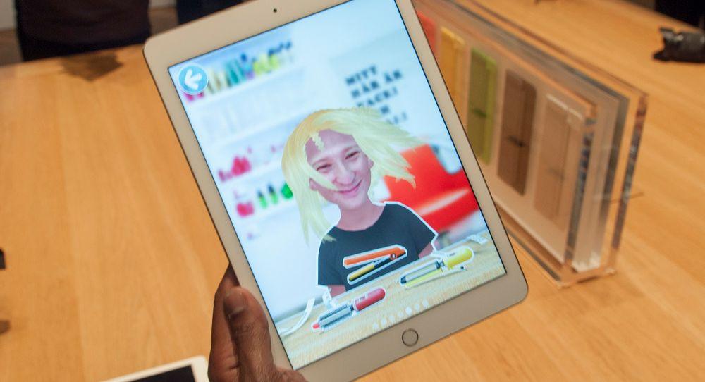 Slik kunne muligens undertegnede sett ut med langt hår. En rekke av appene Apple viste frem var av det mer lekne slaget.