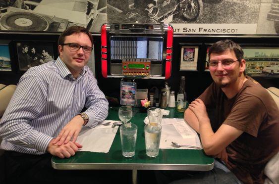 Eugene Sandulenko (t.v.) og Vincent Hamm.