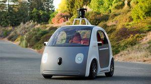 Her ser du bildet av den første utgaven av den førerløse bilen.