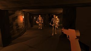 Utviklerens neste spill, Spinal Destination. Om det noensinne blir ferdig gjenstår å se. (bilde: Code Avarice).