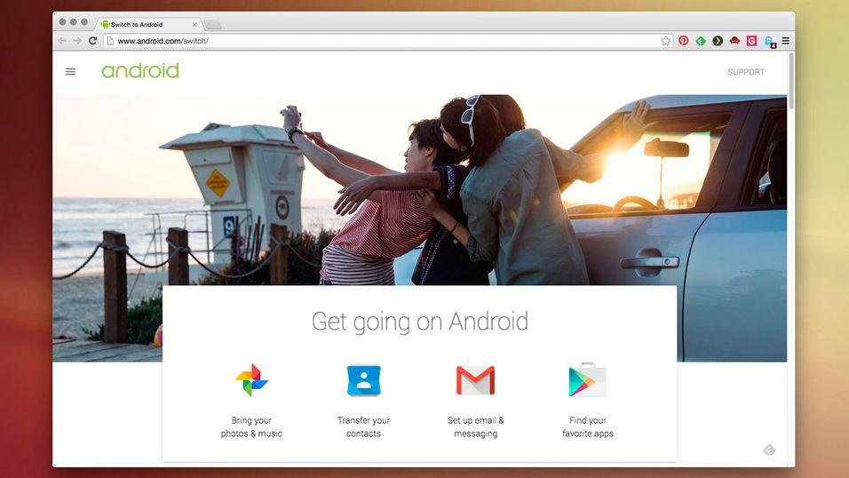 Google vil hjelpe deg over til Android