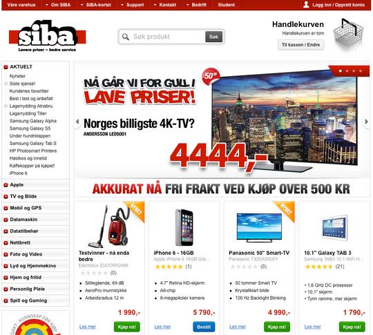 Siba er Norges billigste nettbutikk høsten 2014.