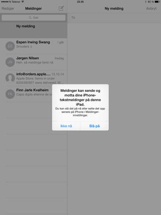 Med siste generasjon iOS og OS X kan de forskjellige Apple-enhetene snakke med hverandre.
