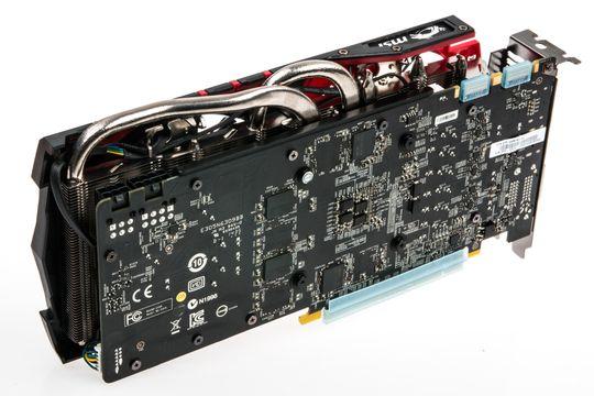 Bakerst på MSIs nye GeForce GTX 970 står det en 6-pins og en 8-pins strømkontakt.