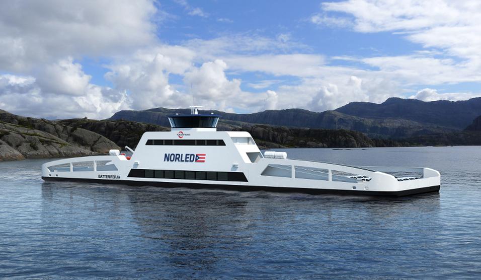 Denne norske ferjen er verdens første med null utslipp