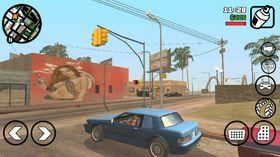 Slik ser Grand Theft Auto: San Andreas ut på mobil.