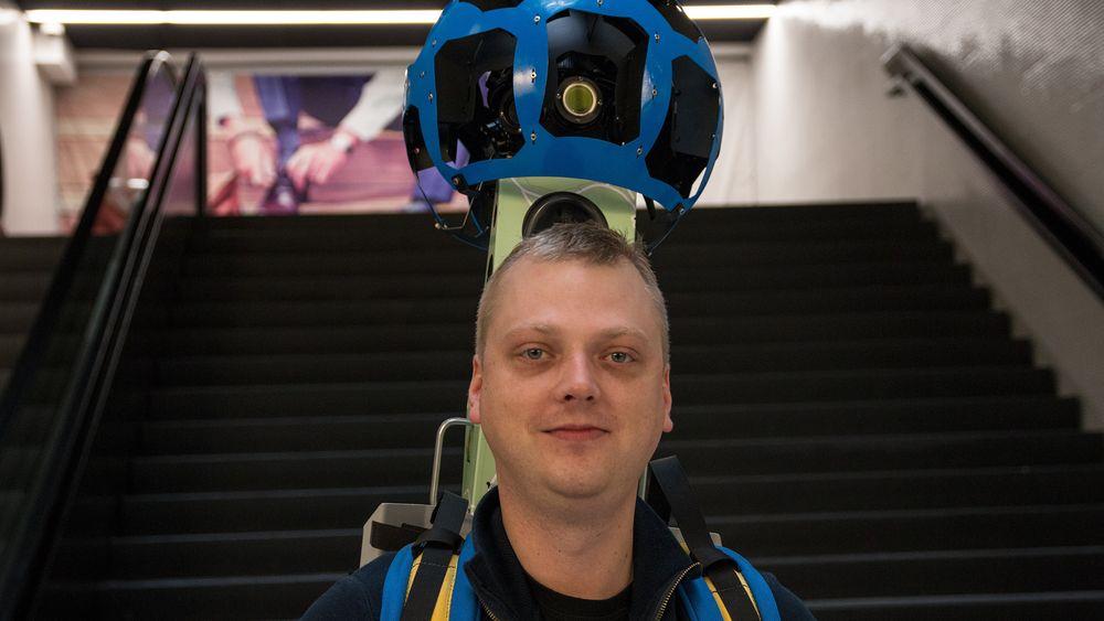 Arturas er en del av Street View-teamet til Google, og operatøren som knipset bilder av Aker Brygge denne uken.