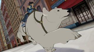 Isbjørnhunden Naga står parat (Skjermbilde: Platinum Games/Activision).